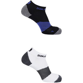 Salomon Speed - Calcetines Running - 2 Pack blanco/negro